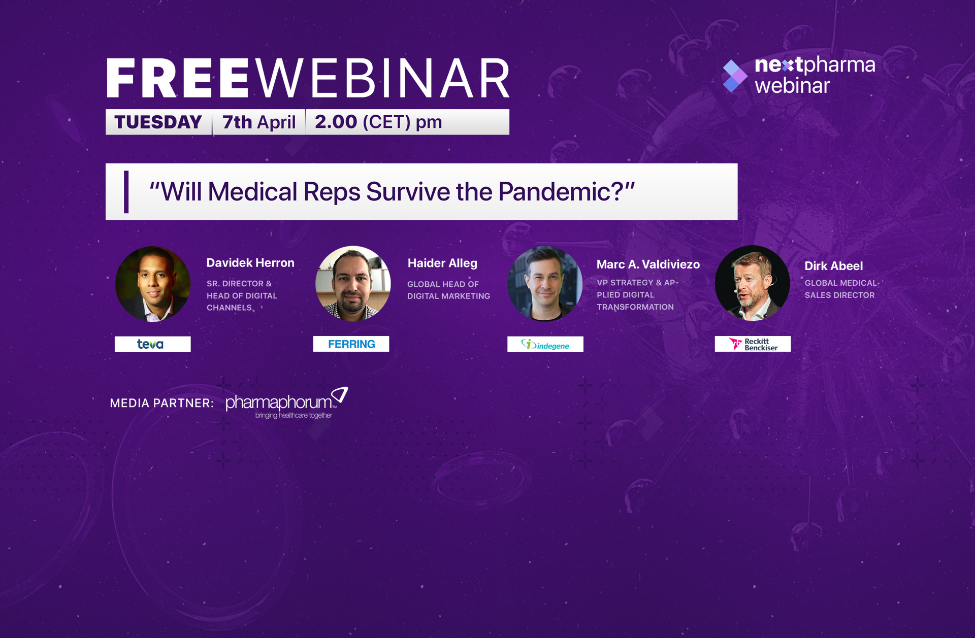 Will medical rep survive pandemic?