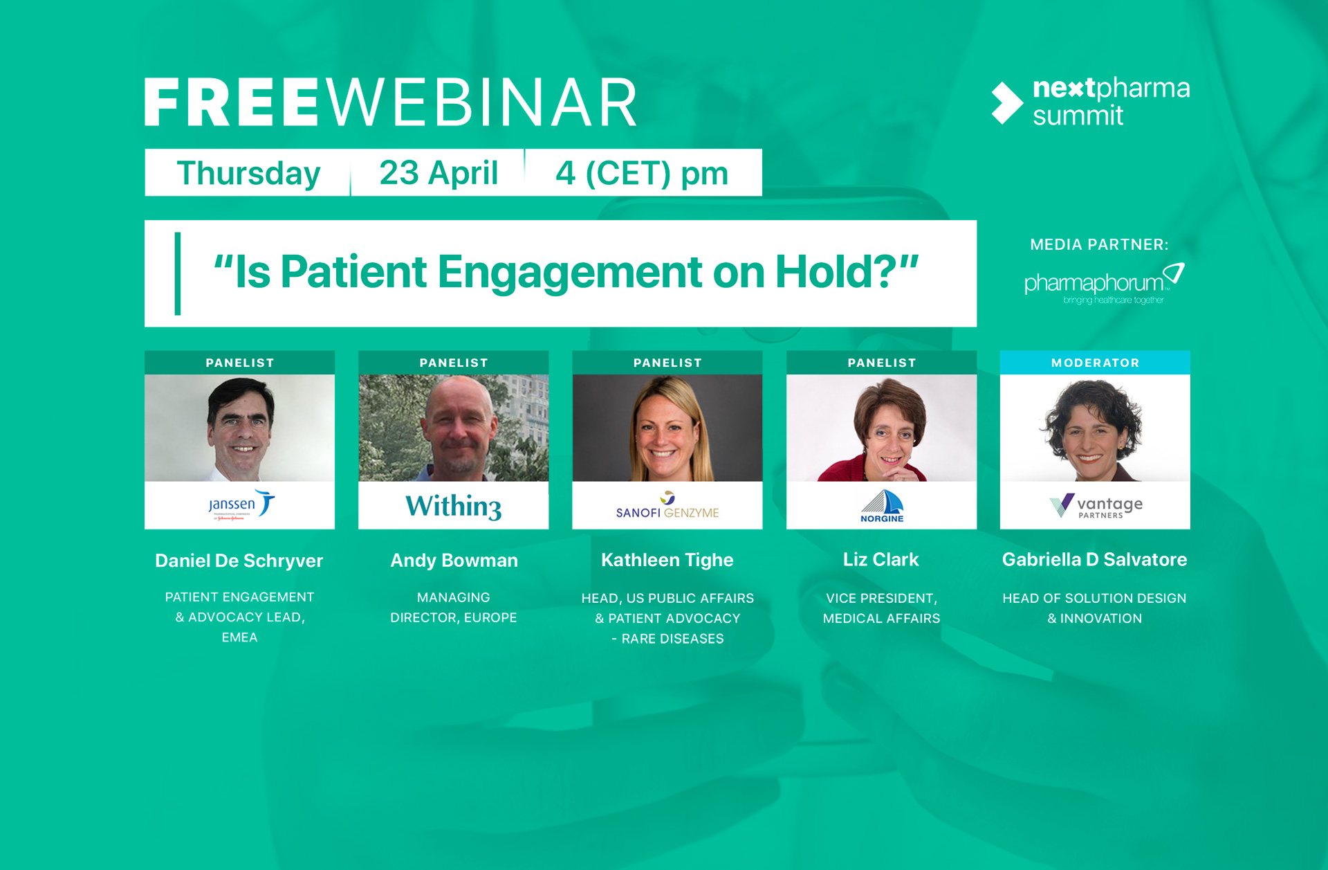 Is patient engagement on hold