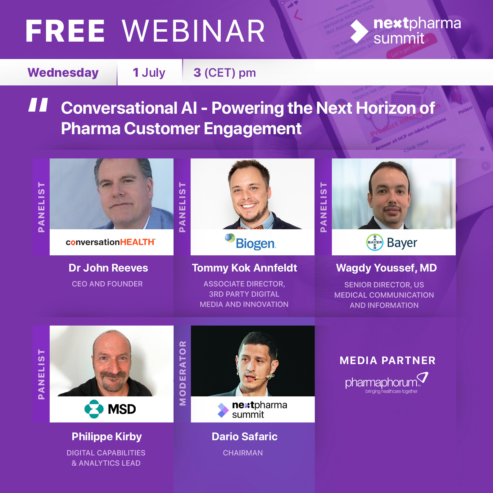 Next Pharma Summit webinar